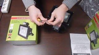 видео купить прожектор светодиодный с датчиком