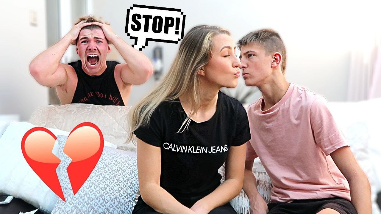 Asking My Boyfriends BROTHER If He Wants A Kiss!!