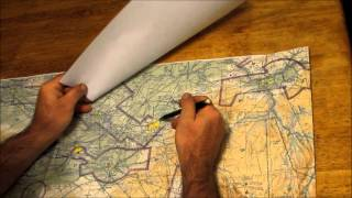 Flight Planning - Plotting courses across the edge of a sectional chart