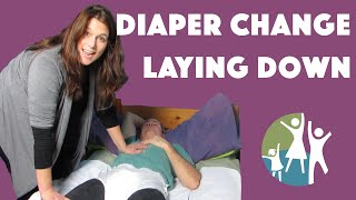 Applying Autistic Adult Diapers in a Lying Position