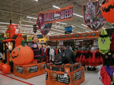 Walmart Halloween Trick Or Treat Aisle Display Adult Costumes And