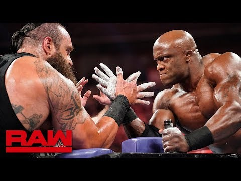 Braun Strowman vs. Bobby Lashley – Arm Wrestling Match: Raw, June 3, 2019