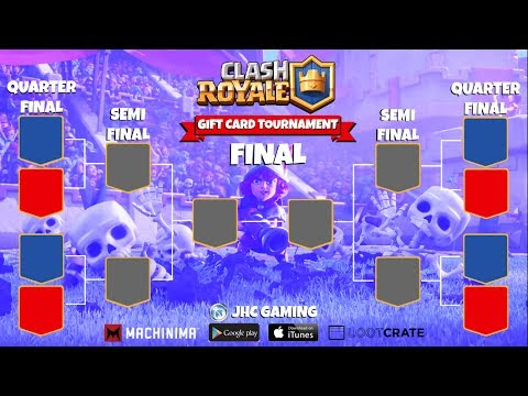 (REPLAY) Gift Card bracket tournament + 2000 GEMS qualifier - Clash Royale