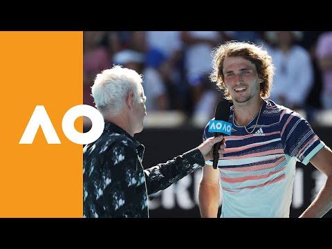 "Alexander Zverev: ""It feels awesome!""   Australian Open 2020 On-Court Interview QF"