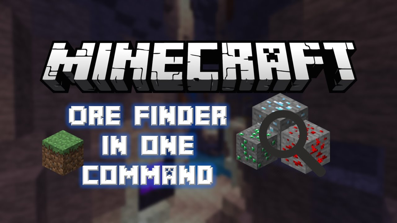 Minecraft 1 8 - Ore Finder In One Command [One Command Showcase]