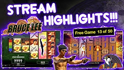 Record 50 Spins on Eye of Horus & BIG Casino Action!!! Stream Highlights!