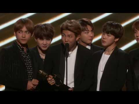 BTS Acceptance Speech, Top Social Artist Award at the 2017 Billboard Music Awards
