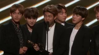 BTS Acceptance Speech, Top Social Artist Award at the 2017 Billboard Music Awards - bts billboard music awards speech