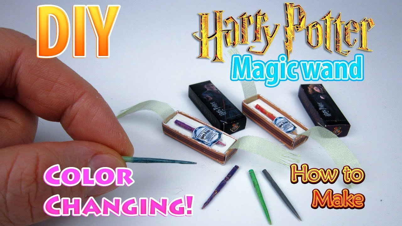 Tv Changing Wand Diy Miniature Harry Potter Wand Color Changing Dollhouse No Polymer Clay