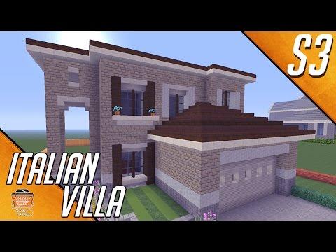 Let's Build An Italian Villa In Minecraft!! Part 1 - House #1 Season 3 Houses
