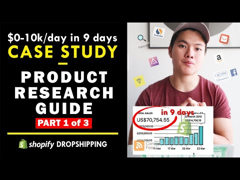 Shopify $0-10k/Day In 9 Days Case Study! Part 1/3: Product Research Guide thumbnail