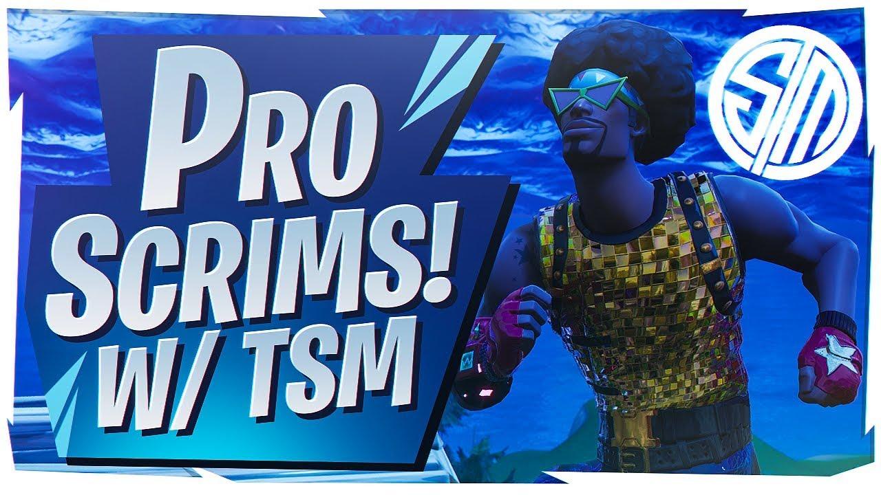 Tsm Vs Fortnite Pros Pro Team Scrims Fortnite Br Full Game Youtube