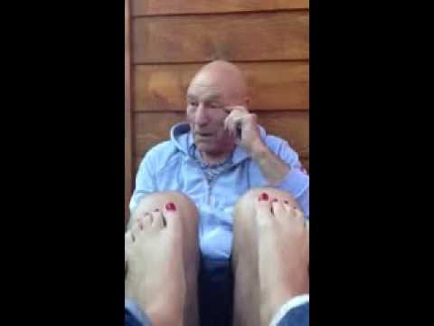 Buns are the best  A Stoned Sir Patrick Stewart Teaches His Girlfriend How to Act