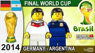 World Cup Final 2014 Germany vs Argentina 1 0 in Lego All Goals Highlights Lego Football