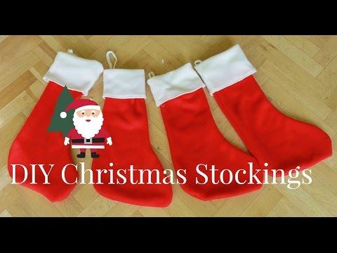 How To Make Christmas Stockings | DIY Christmas Decorations
