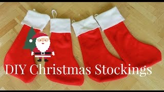 How To Make Christmas Stockings | DIY Christmas Decorations