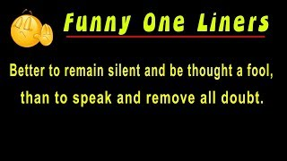 Funny OneLiners | Great One Liner Jokes