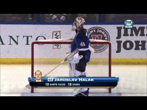 Jaroslav Halak saves in 1st Ottawa Senators vs St. Louis Blues  2/4/14 NHL Hockey.