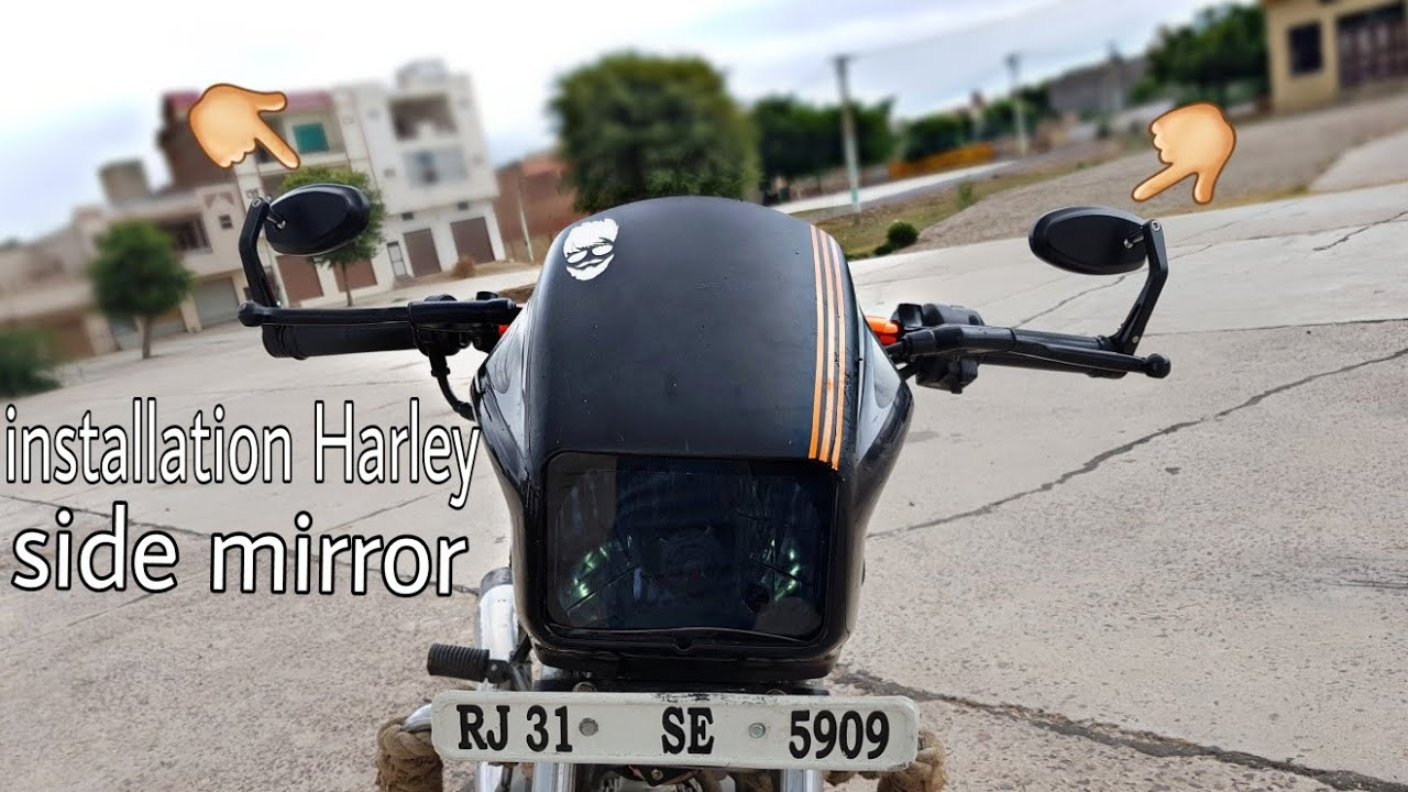 How To Install Harley Side Mirror In All Bikes Best Mirror