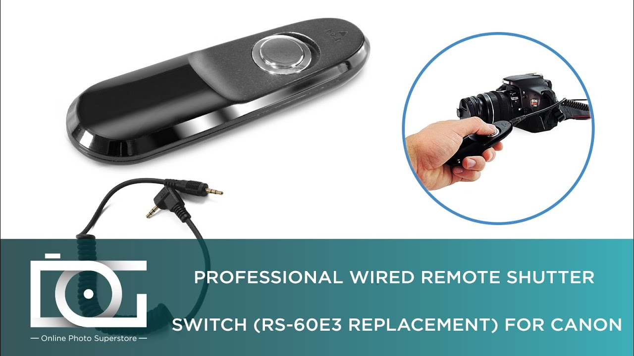 Canon Rs 60e3 Tutorial How To Use A Professional Wired Remote Shutter Switch Rs 60e3 Replacement Youtube