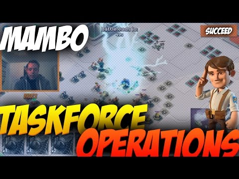 Taskforce OP Mambo - Boom Beach Strategy - High Voltage with Burce