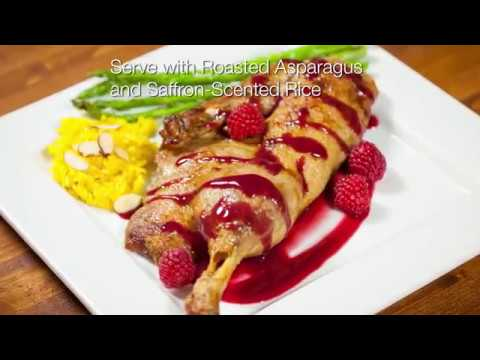 Roast Half Duck with Hot Raspberry Sauce