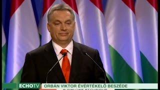 Orbán Viktor 18. évértékelő beszéde - Echo Tv