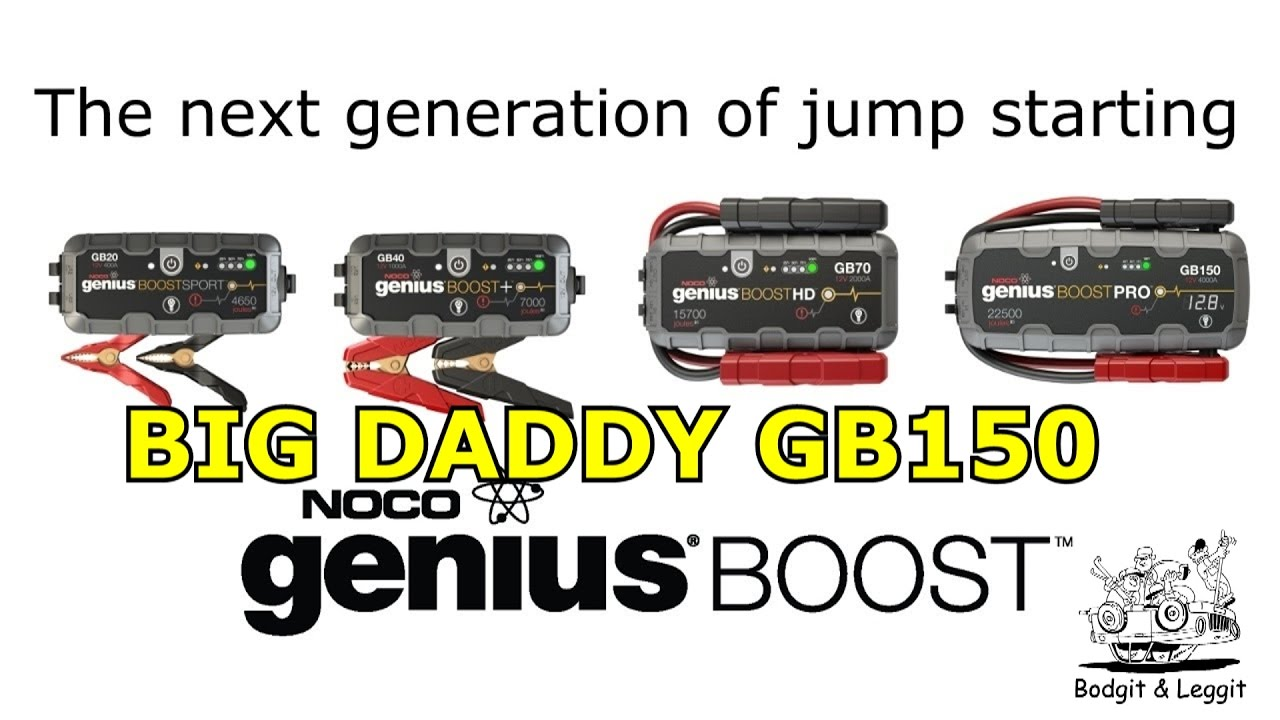 noco genius boost pro gb150 lithium jump starter bodgit. Black Bedroom Furniture Sets. Home Design Ideas