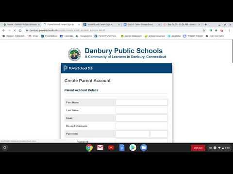 How To Create A Parent Portal Log In For Danbury Public Schools