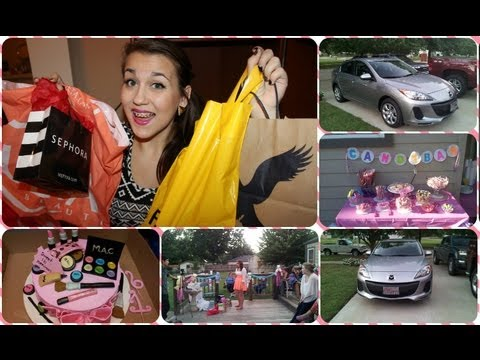 What I Got For My 16th Birthday Gifts And Haul Youtube