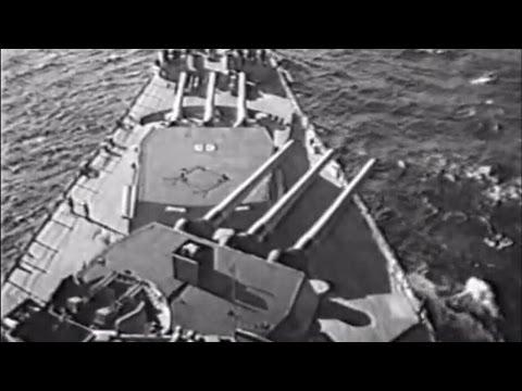How the main armament of an Iowa-class battleship works - 1955
