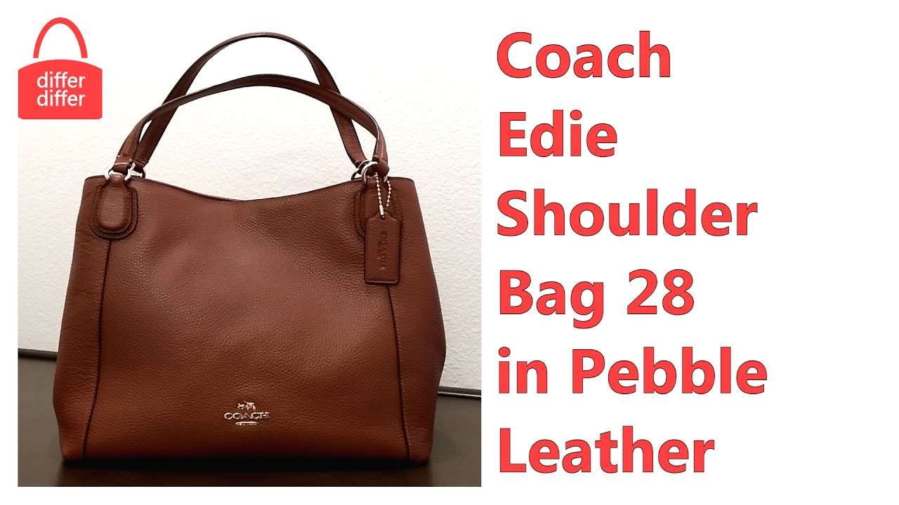 drop shipping top-rated genuine On Clearance Coach Edie Shoulder Bag 28 in Pebble Leather 35983