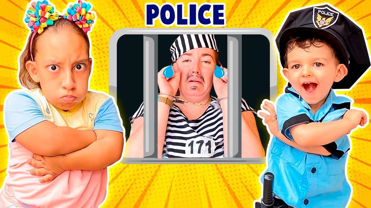 MC Divertida e Baby JP fingem brincar de ser policiais e prendem o ladrão de doces
