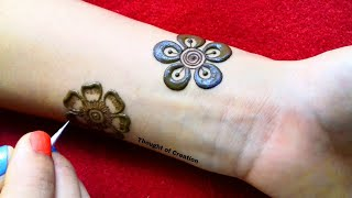 Stylish Floral Mehndi Design for Front Hand  Thought of Creation