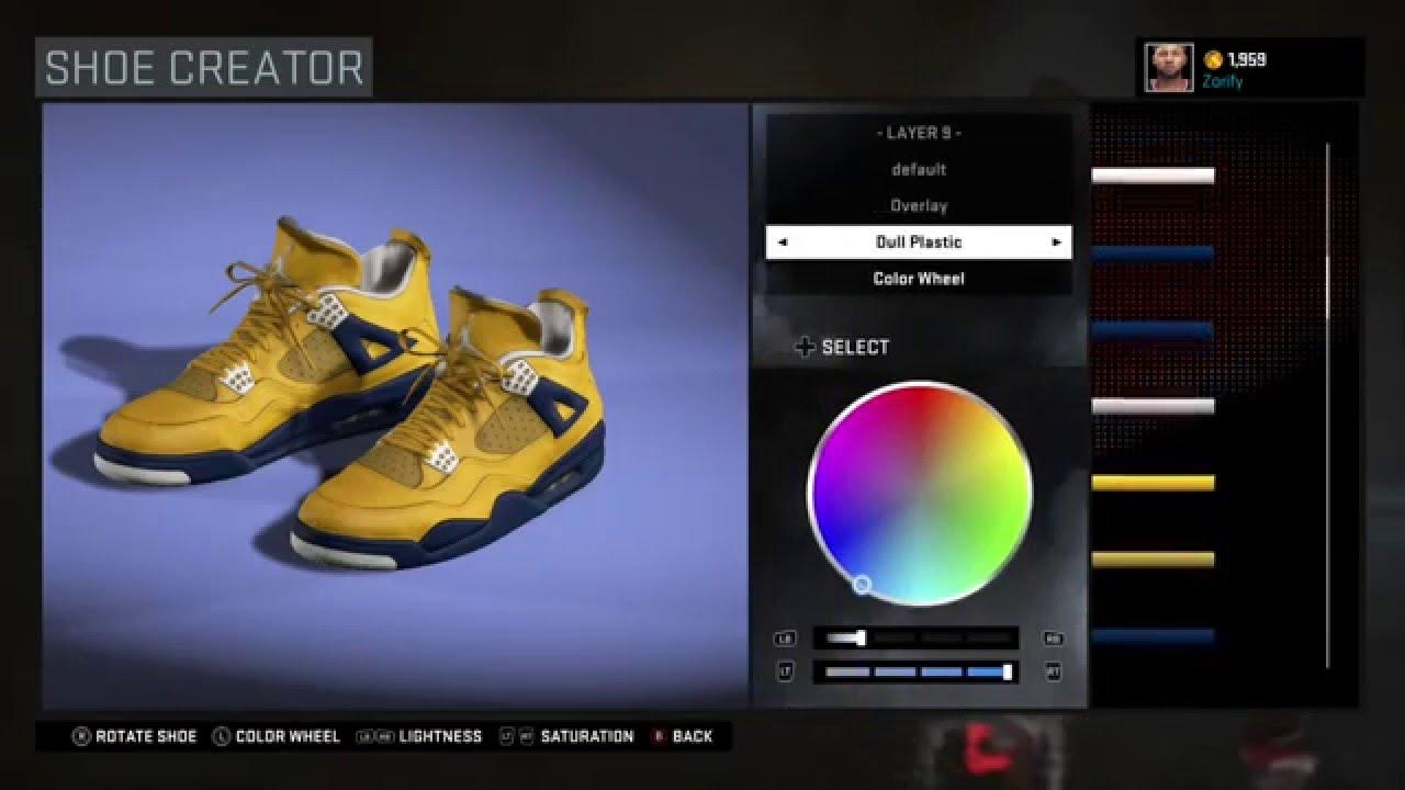 NBA 2K16 Shoe Creator - Air Jordan 4 Custom