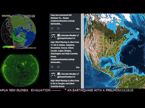 News Earthquakes Space Weather Storm Warnings Tornado Watches Syria DefCon Air strikes