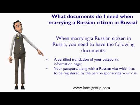 What documents do I need when marrying a Russian citizen in Russia?