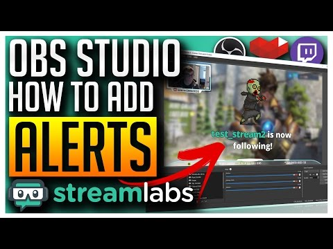OBS Studio - Adding Alerts for Follower, Subscriber, Donation