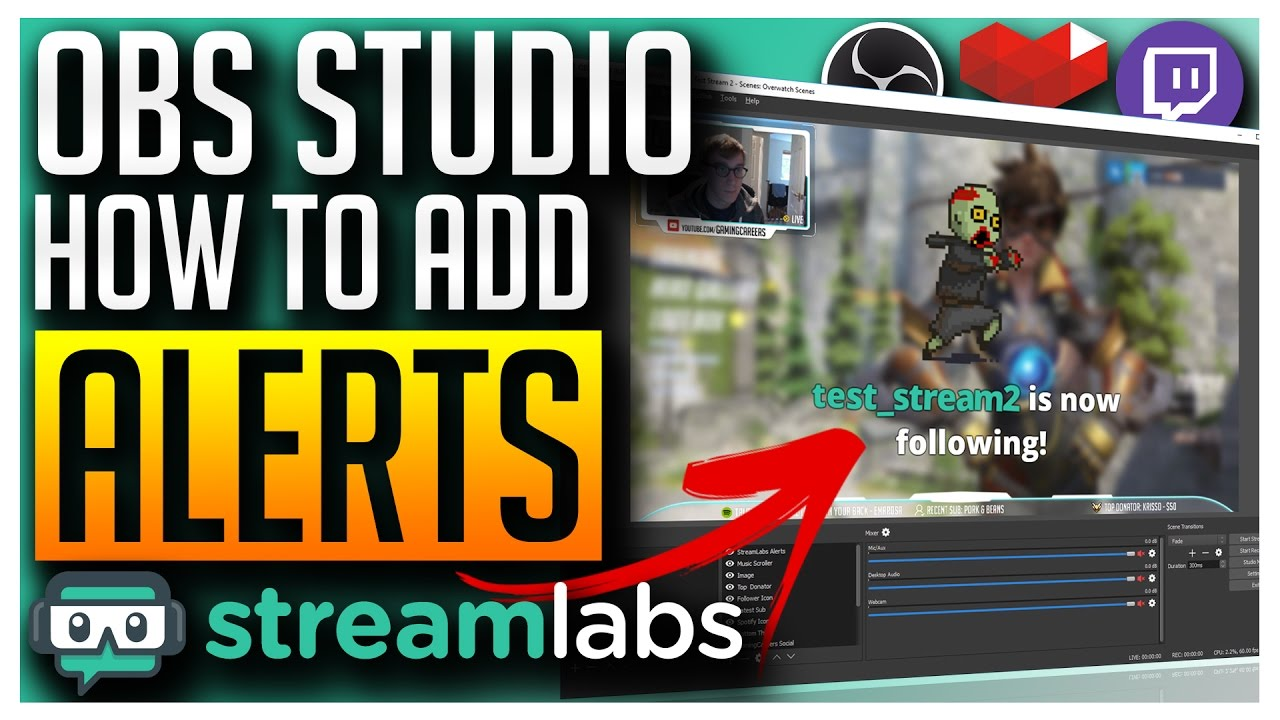 How to Add Follower, Subscriber and Donation Alerts on Stream