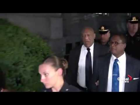 Bill Cosby yells out Fat Albert's 'Hey Hey Hey' as he departs court on day 2 of jury deliberations