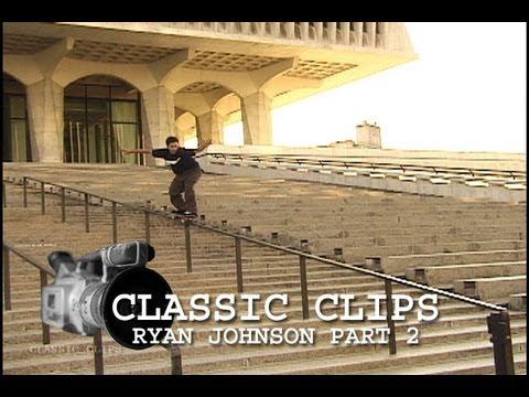 Ryan Johnson Skateboarding Classic s 105 Part 2 30 Stair Rail