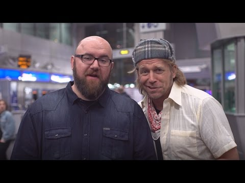 Tony Law & Scott Gibson perform stand-up on London Underground