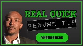 Should You Put Your References In Your Resume?
