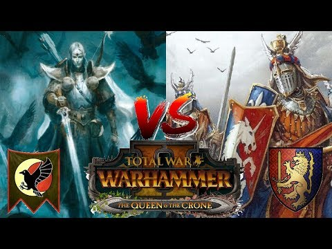 High Elves vs Bretonnia  Total War Warhammer 2  The Queen &  The Crone DLC