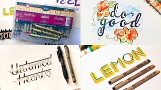 30 Days of Handlettering - Pigma Ink Challenge