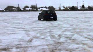 Golf R playing on ice