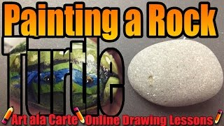 How to paint a Rock Turtle