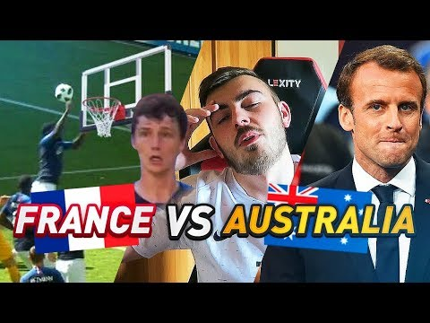 LES ÉNORMES RÉACTIONS FRANCE AUSTRALIE (2-1) ! #CDM2018