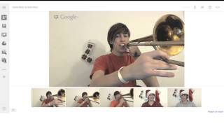 Day 22 - Snow Miser / Heat Miser Song (on Google+ Hangouts): Trombone Arrangement