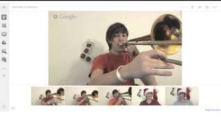 Day 22 - Snow Miser / Heat Miser Song (on Google+ Hangouts): Trombone Arrangement